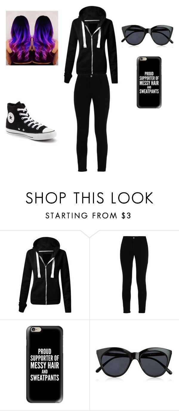 """Spy Outfit"" by sorscerunknown on Polyvore featuring STELLA McCARTNEY, Casetify, Le Specs and Converse"
