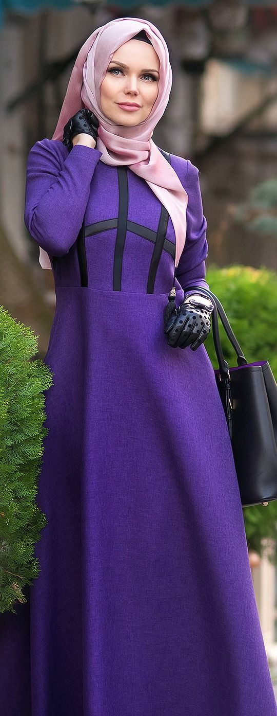 Muslima Wear City Style Violet Dress