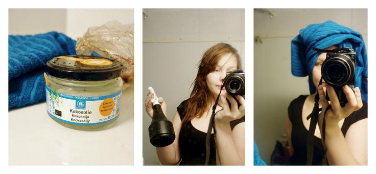 Vain tahroja paperilla: Testauksessa kookosöljy hiuksille - mukana myös miehinen mielipide http://seurallinenerakko.blogspot.fi/2015/01/testauksessa-kookosoljy-hiuksille.html