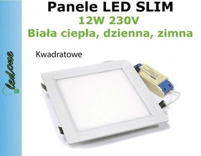 СВЕТОДИОДНЫЕ панели 12W ПЛАФОН светильник потолочный светильник лампа квадрат