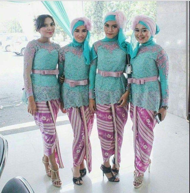 Model Baju Kebaya Seragam Keluarga Untuk Pesta Pernikahan Contoh