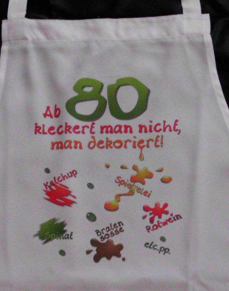 80 Geburtstag klecker Schürze für Erwachsene Scherzartikel witzige Geschenke | eBay