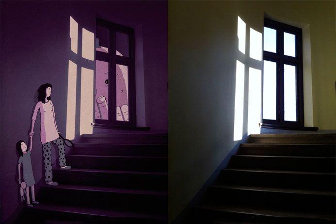 Mezcla #ilustración y #fotografía