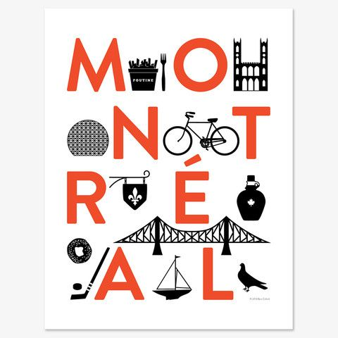 By popular demand, we've turned our design for West Elm Montreal's grand opening event into a limited edition print!
