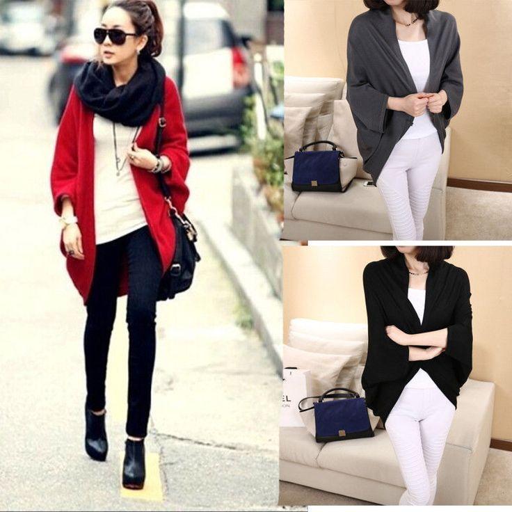 Mulheres novas desproporcionado camisola de malha soltas Batwing manga casaco de lã Tops Outwear in Roupas, calçados e acessórios, Roupas femininas, Malhas e suéteres | eBay