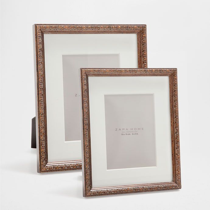 EMBOSSED THIN WOODEN FRAME - Frames - Decoration - HOME COLLECTION AW16 | Zara Home Norge / Norway