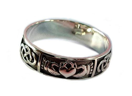 "Discover new edges of love together with amazing handmade ring. Irish wedding ring will be perfect as for men as for women. Claddagh ring it's a good choise for tour unique style. Mens claddagh ring ""Endless Love"" – Three Snails"