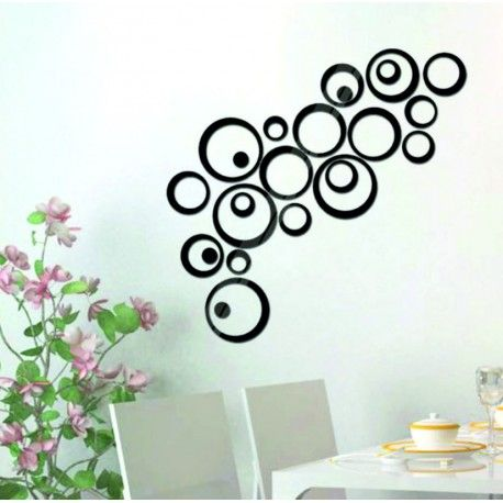 Mirror decorative stickers are unique. Original accessory to your house, apartment, bathroom or office. Unique design meets here with expediency product. Decorative stickers and labels are made of plastic - ACRYLIC with a mirror finish. They are intended for application to the wall, glass, tiles, wood and metal. The surface must be clean so that sticker could properly grip. Decorative mirror stickers are easy to apply thanks to the double-sided adhesive film. The image on the sticker is a…