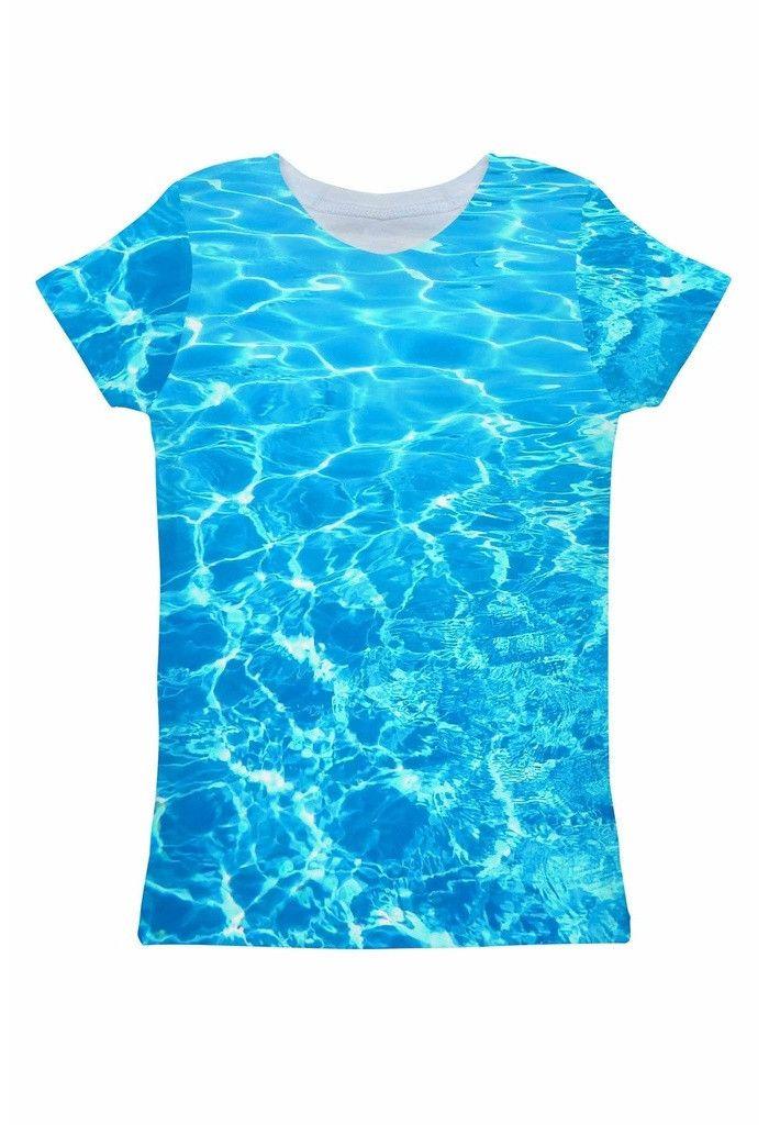 Harmony Song Zoe Blue Water Print Eco T-Shirt - Women