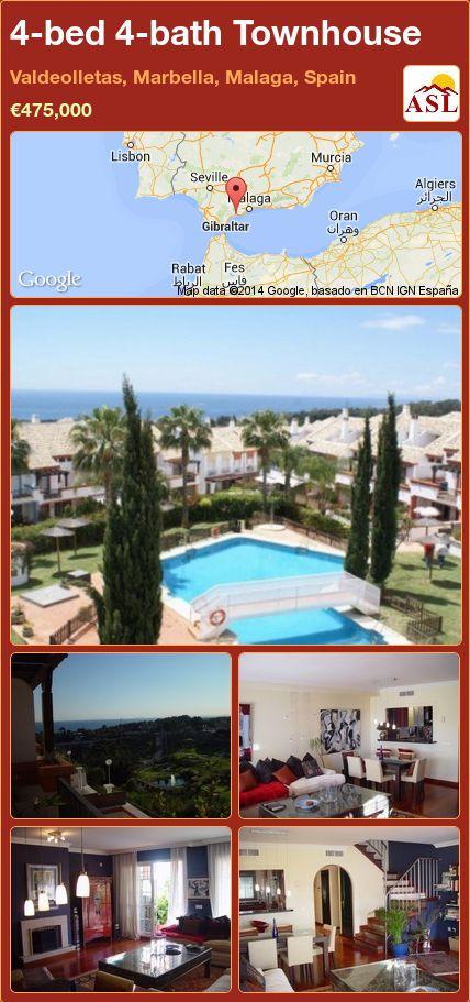 4-bed 4-bath Townhouse in Valdeolletas, Marbella, Malaga, Spain ►€475,000 #PropertyForSaleInSpain