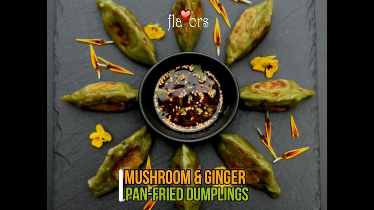 MUSHROOM & GINGER PAN-FRIED DUMPLINGS I lived in Hong Kong for nearly 12 years and my two boys love pan-fried dumplings.  I have always bought the store bought variety – but now I can make my own healthy dumplings!