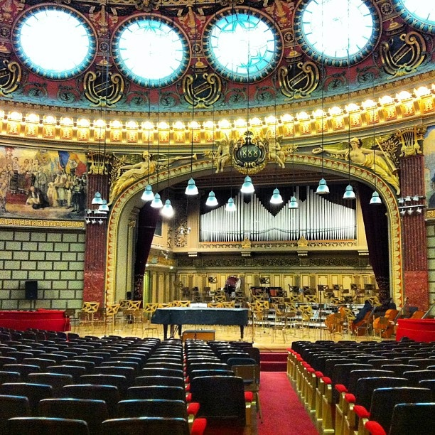 At the Atheneum in Bucharest