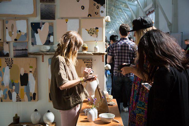 Magic Hour at the 2016 Spring SF Market. #Renegadecraftfair #RenegadeSF