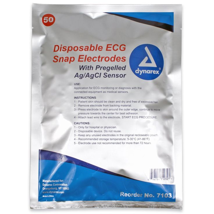 ECG Snap Electrodes (7103), 50mm x 55mm, 2/strip, 25 strips/pouch * More info could be found at the image url.