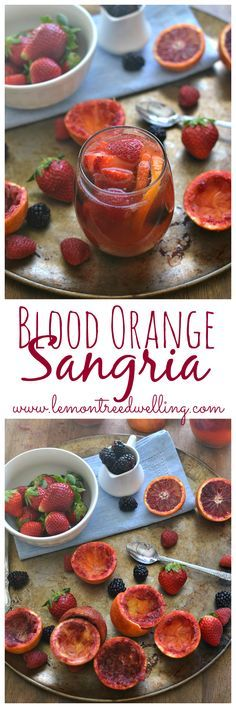 Delicious Blood Orange Sangria made with white wine, rum, and triple sec and garnished with fresh berries. A show-stopper of a drink that will leave everyone wanting more!