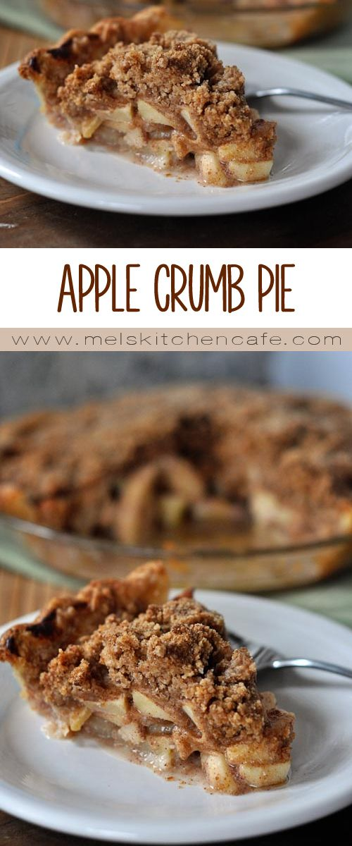 This apple crumb pie only requires one pie crust and it is absolutely dreamy.