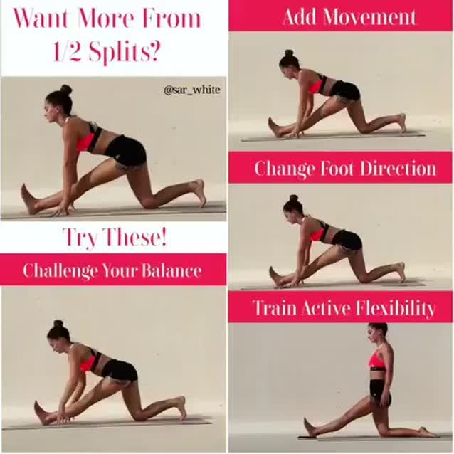 Ardha Hanumanasana Half Split Spiced Up 4 Ways Teachers Students You Ll All Want To Try These Variations Demo D By Posturas