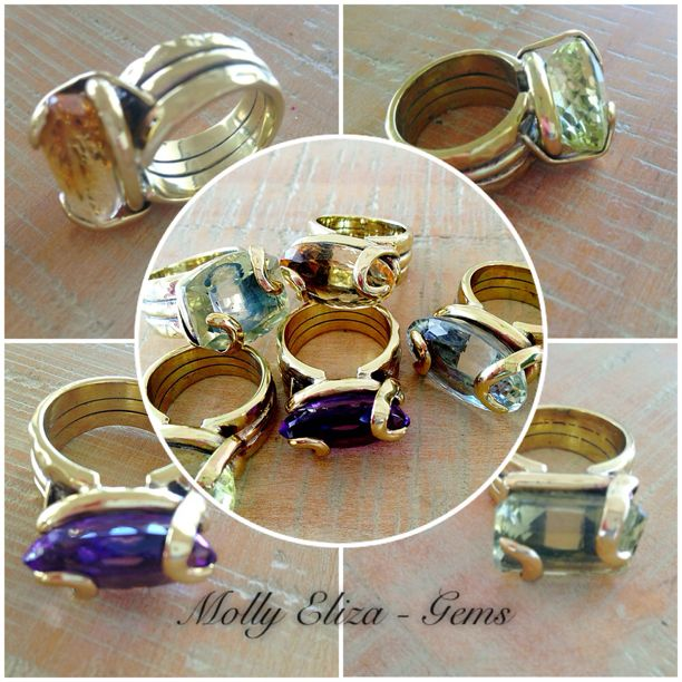 'Molly Eliza'- Gypset Gems. Lemon Quartz, Amethyst, Citrine and Green Amethyst handcrafted brass and gemstone jewellery. Unique - no two are the same.  More on our Instagram page @Molly & Eliza