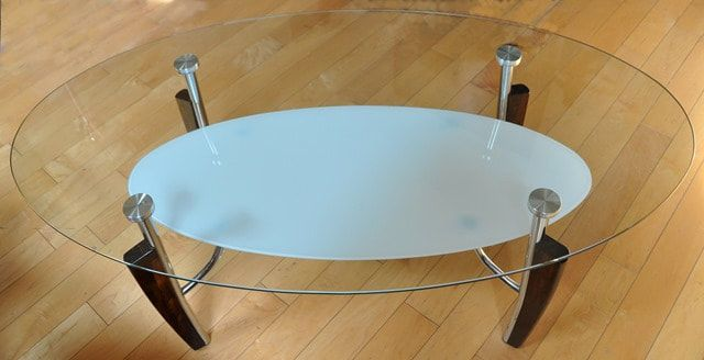 2 Tier Oval Glass Top Coffee Table By Ashley Furniture Glass Top