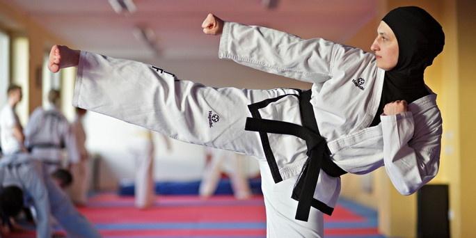 Nihal Aksoy, a German champion in Taekwondo.