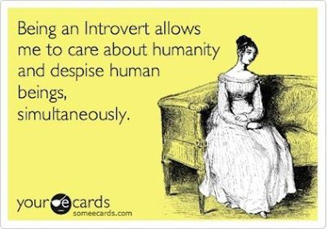 The benefits of being an intro is listed (or ranked) 10 on the list Jokes That Are Only Funny If You're an Introvert