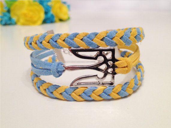 Ukraine Symbol Trident Bracelet Ukraine Flag Antique Bronze/Silver Charm Bracelet Friendship bracelet, Ukraine Jewelry, Ukraine Gift