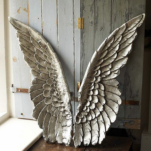 Silver Large Angel Wings by Parlane | £257.04