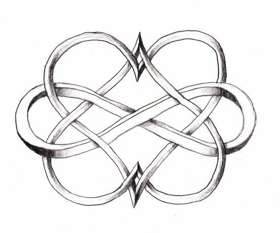 Infinity double heart – love this for a tattoo design