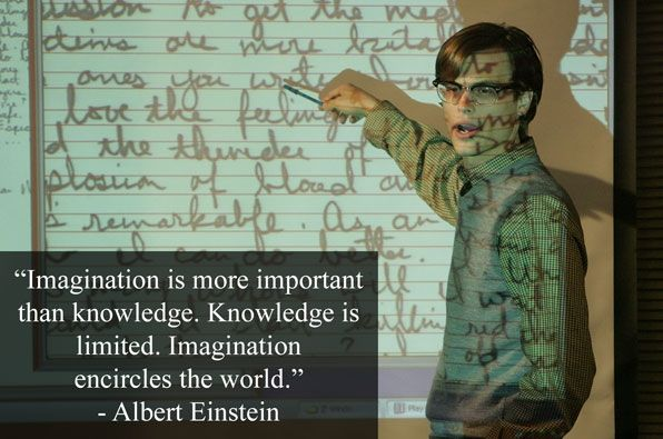 """Imagination is more important than knowledge. Knowledge is limited. Imagination encircles the world -Albert Einstein"