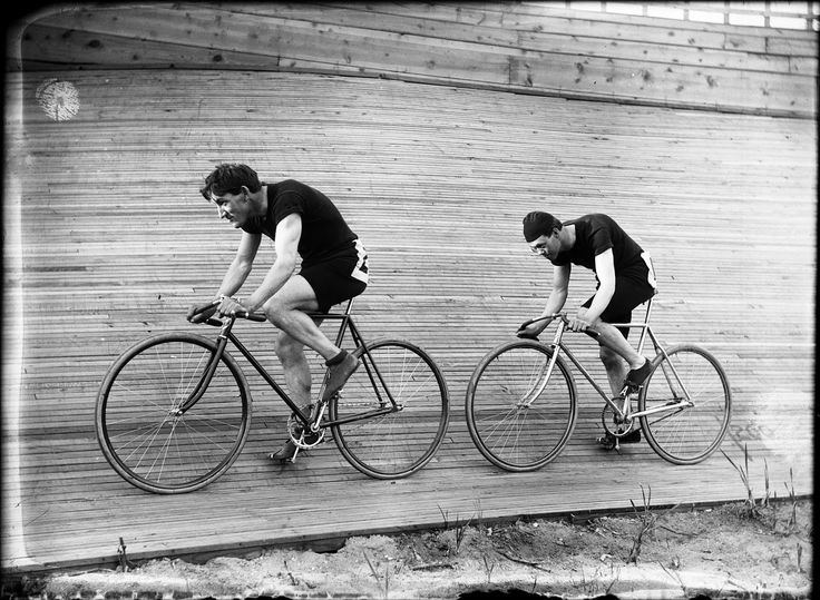 Early 20th Century bicycle racers in Ogden on the indoor track at Lorin Farr Park.    INDEPENDENCE Day in Ogden 119 years ...