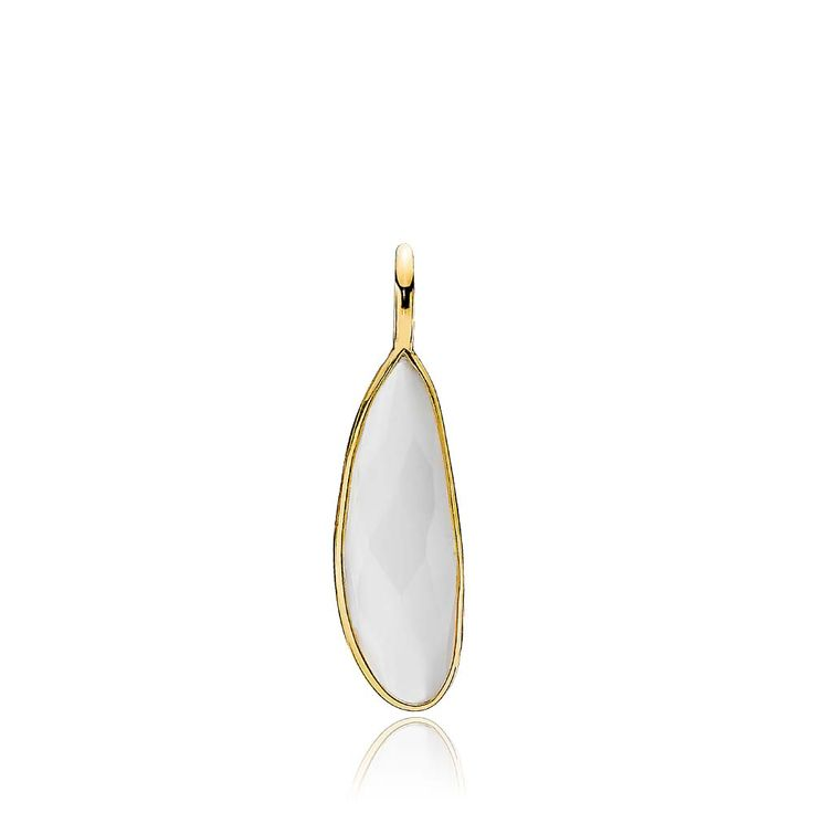PRECIOUS pendant with a beautiful white chalcedony. The pendant is made of shiny gold plated sterling silver – Danish design jewelry by Izabel Camille. Price: EUR 37 No. A5212gs-white CL  www.izabelcamille.com