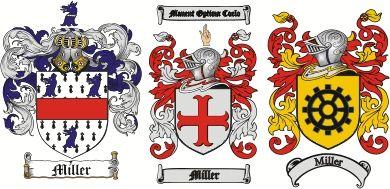 Miller Coat of Arms / Miller Family Crest