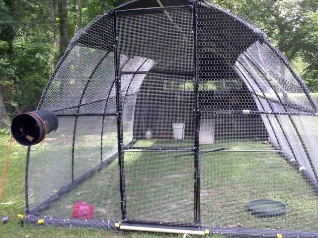 Quot hoop coop all pvc would be light and cheap but still