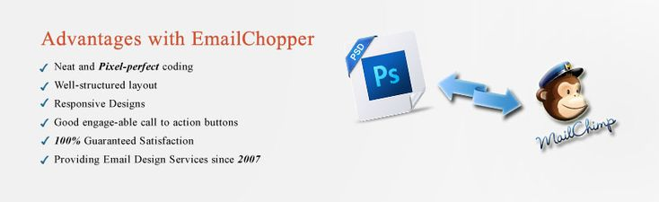 CONVERT PSD TO MAILCHIMP TEMPLATE WITH RESPONSIVE DESIGN