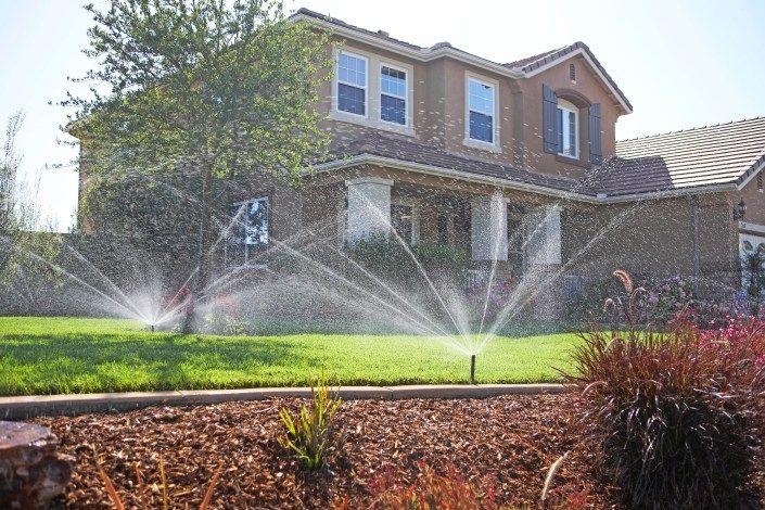 Eine automatische Bewässerung sorgt für sattes Grün - und gleichzeitig für eine sparsame Dosierung des kostbaren Nasses.