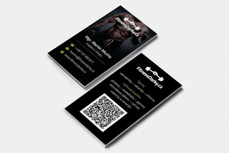 Vizitky pro e-shop FitnessDarky.cz #businesscards #businesscardsdesign