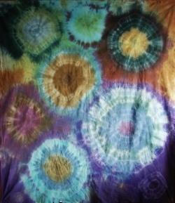 Tie Dye multiple circles