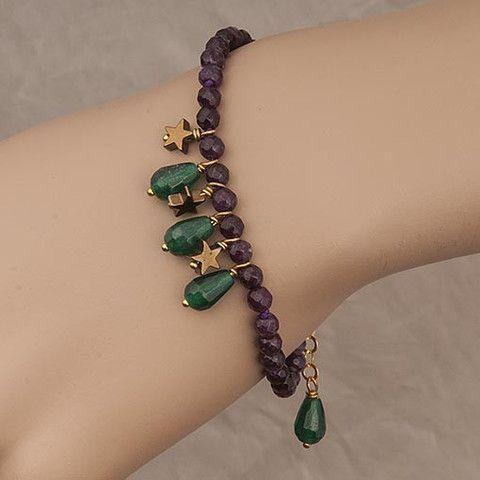 Handmade Brown Crystal Bracelet  At Anthoshop.com