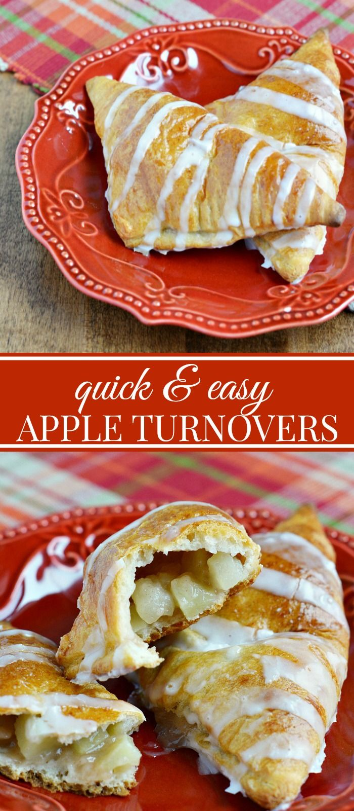 Easy Apple Turnovers - Super simple to make right at home.