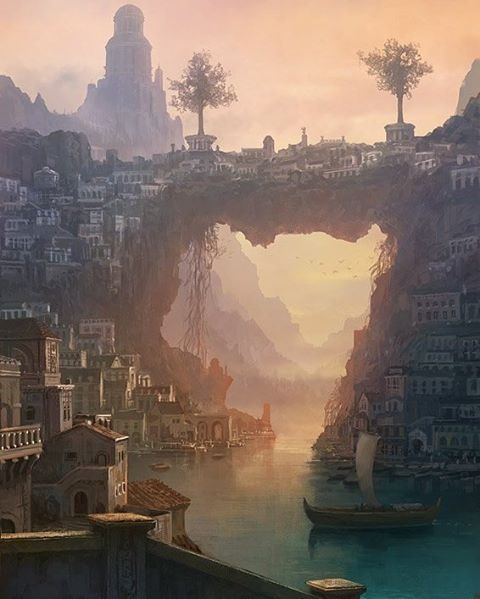 Amazingly beautiful environment painting by Japanese illustrator Kou Takano