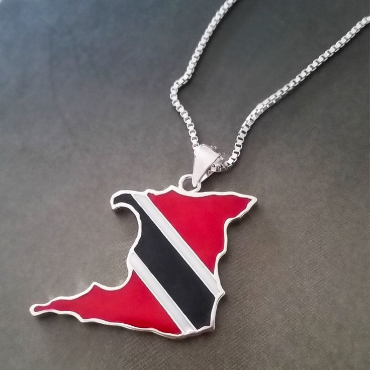 Trinidad Country Lacquer Pendant Necklace