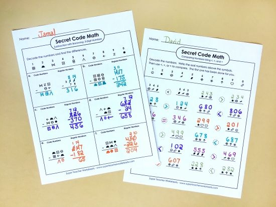 117 Best Images About Math Super Teacher Worksheets On