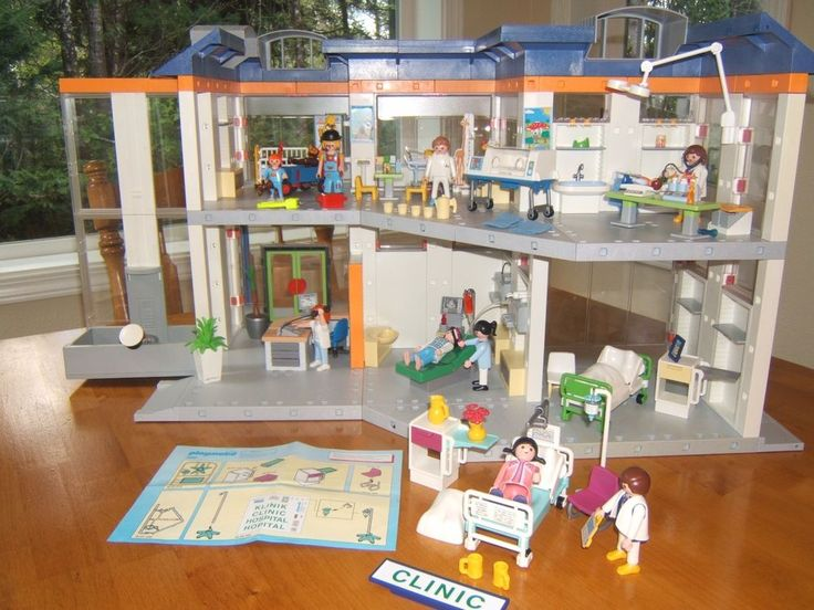 PLAYMOBIL HOSPITAL 4404 - Rare with EXTRAS! Medical ...