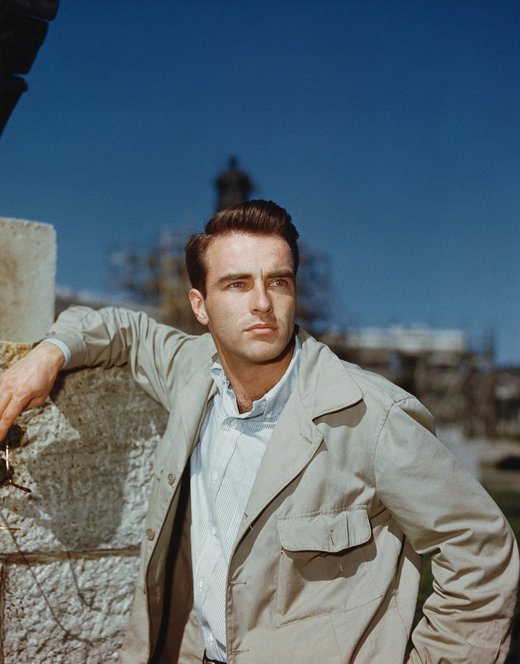 "Edward Montgomery (Monty) Clift (10-17-1920 – 07-23-1966) An American film and stage actor. The New York Times' obituary of Clift noted his portrayal of ""moody, sensitive young men"".He often played outsiders and ""victim-heroes"""