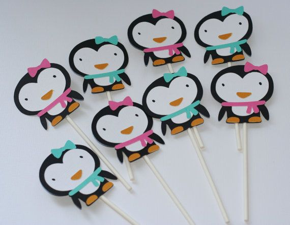 Penguin Complete Birthday Party Package Girl by AngiesDesignz