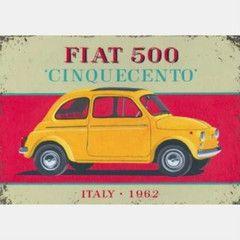 Cinquecento Fiat 500 Card | Paper Products Online
