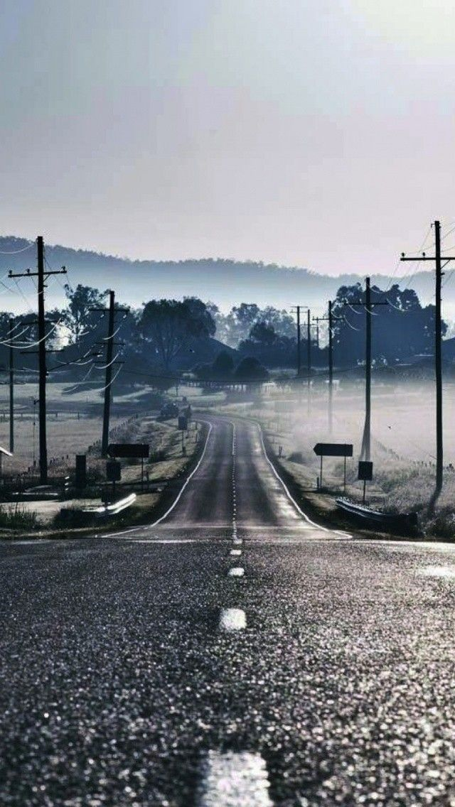 Country Road Power Lines 4k Hd Android And Iphone Wallpaper