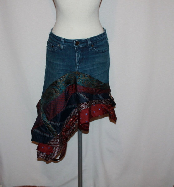 26 best upcycled jean skirt images on pinterest denim for Jeans upcycling ideas