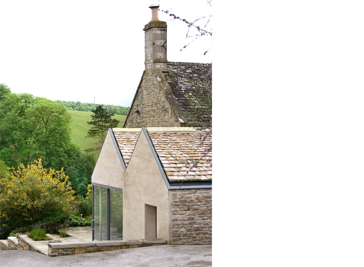 Cotswolds Renovation - Feilden Fowles Architects Contemporary Architecture Design Farm House Kitchen Greenbelt Stone Sliding Doors Range AGA View Countryside Extension UK England Rural