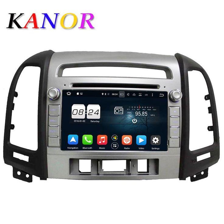 [Visit to Buy] KANOR 1024*600 Octa Core Android 6.0 Car DVD Player For Hyundai Santa Fe 2006-2012 Headunit GPS Navigation 2 Din Car Audio #Advertisement